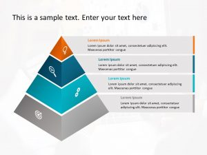 4 Stages Pyramid Powerpoint Template