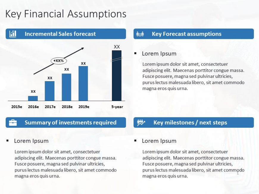 Key financial assumptions powerpoint template
