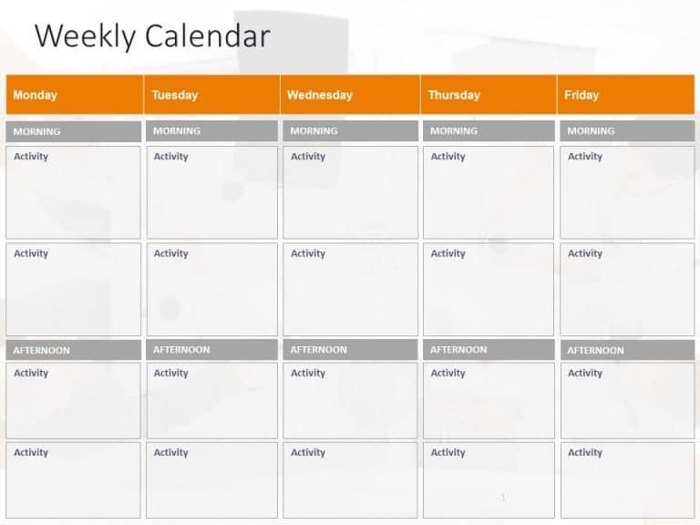 Weekly Calendar Powerpoint Template