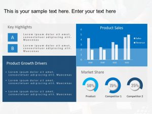 Product Dashboard Powerpoint