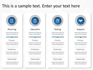 Project management lifecycle powerpoint template