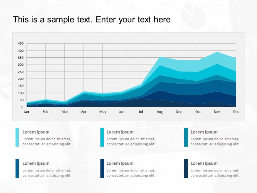 Multiple Line Graphs Powerpoint Template