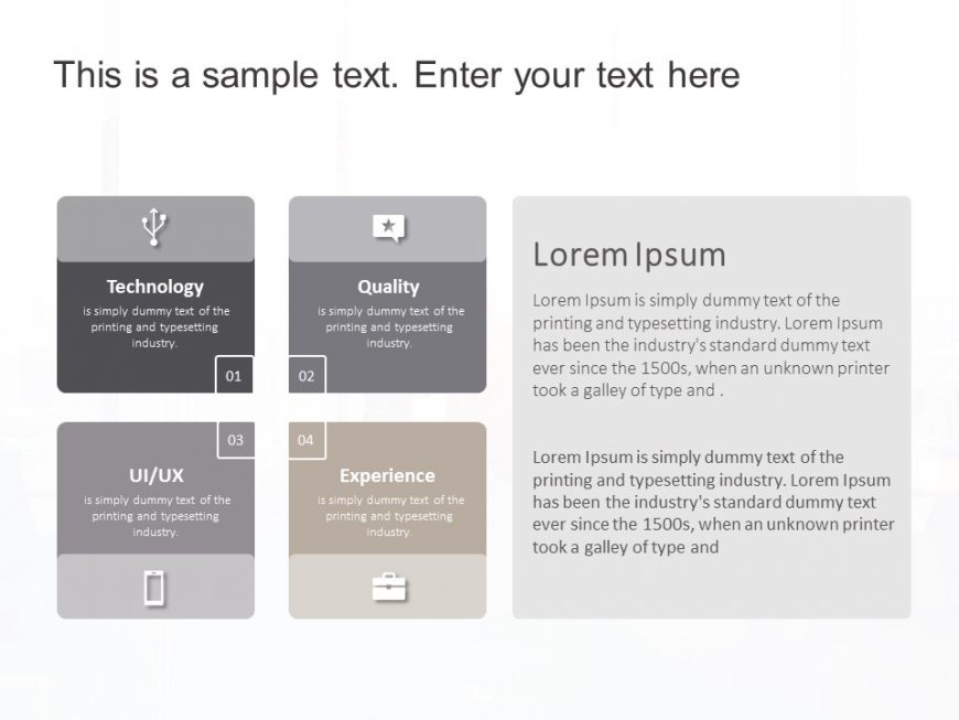 4 Steps Quadrant Strategy PowerPoint Template