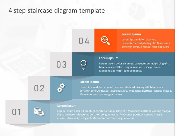 4 Step Staircase Diagram Template