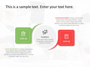 2 Steps Business PowerPoint Template 4