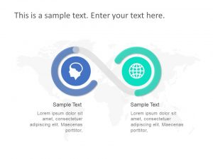 2 Steps Features PowerPoint Template 1