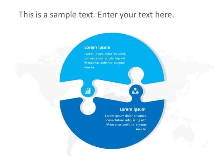 Free 2 Steps Roadmap PowerPoint Template