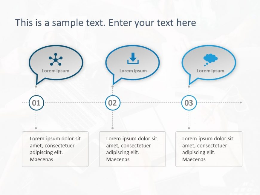 3 Steps Callout PowerPoint Template