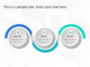 Mission Vision 3 Steps PowerPoint Template
