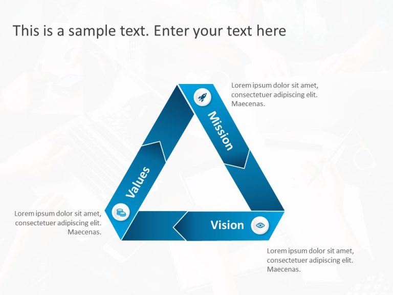 3 Steps Triangle PowerPoint Template 8