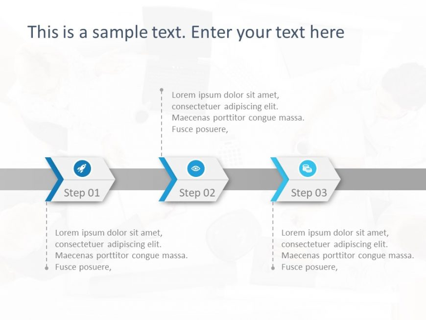 3 Steps PowerPoint Template 9