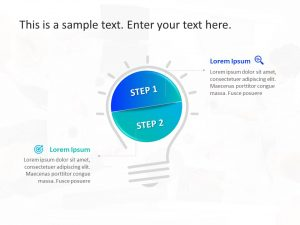 2 Steps Business PowerPoint Template 8