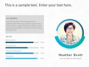 Employee Profile PowerPoint Template 8