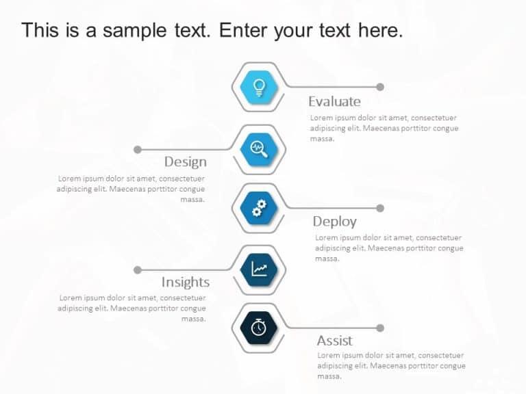 5 Steps Hexagon PowerPoint Template 1