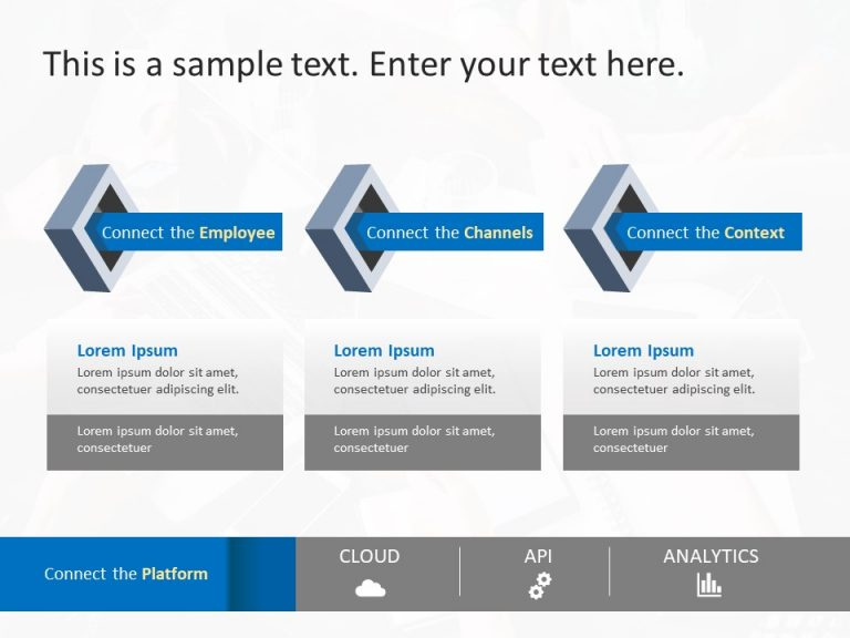 3 Steps Business Strategy PowerPoint Template 2