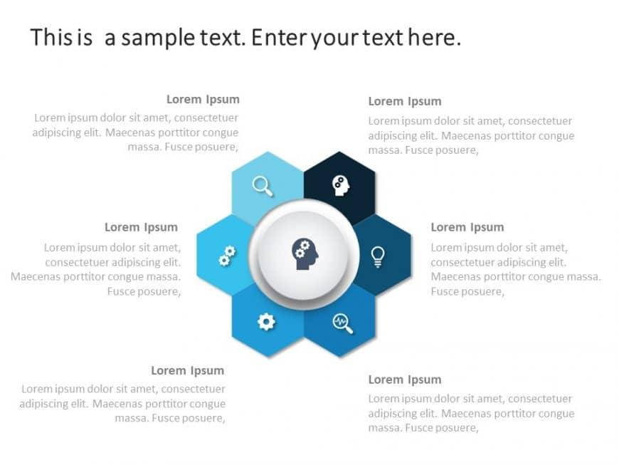 Free Hexagon Brainstorming PowerPoint