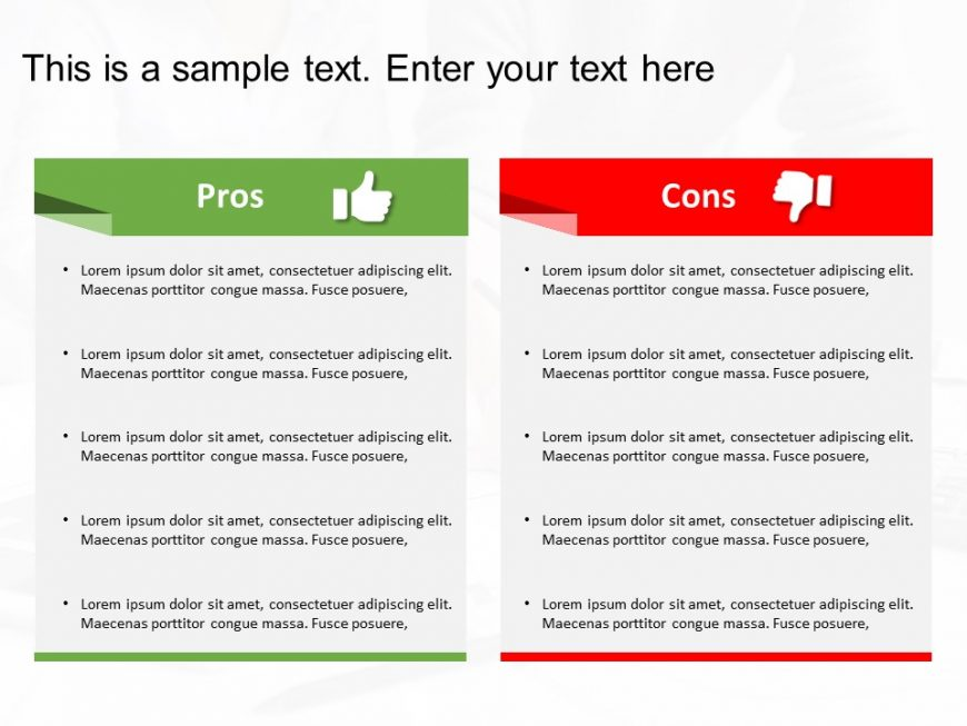 Pros And Cons Powerpoint Template 2