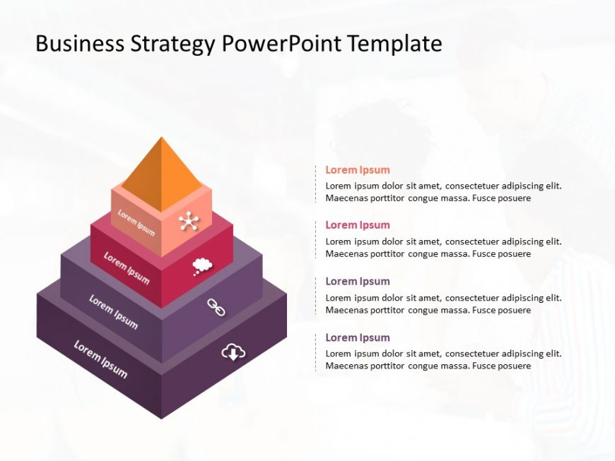 3D Business Strategy PowerPoint Template
