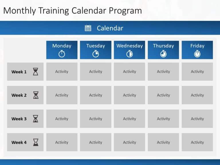 Monthly Calendar Training PowerPoint template