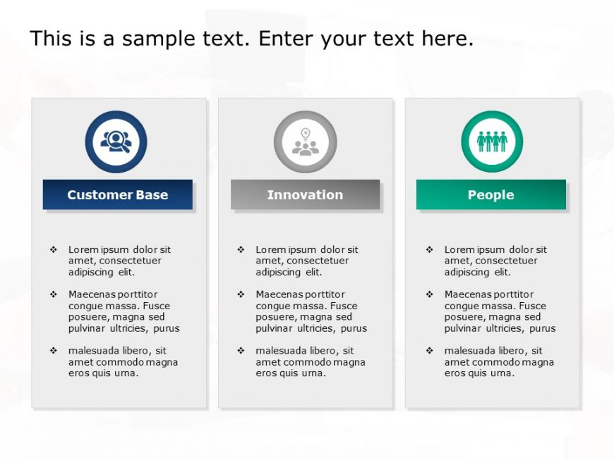 3 Column Business Strategy Template