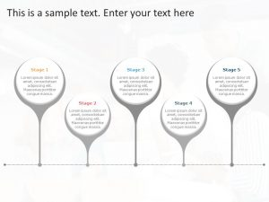 5 Project Stages PowerPoint Template