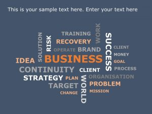 Business Wordcloud PowerPoint Template
