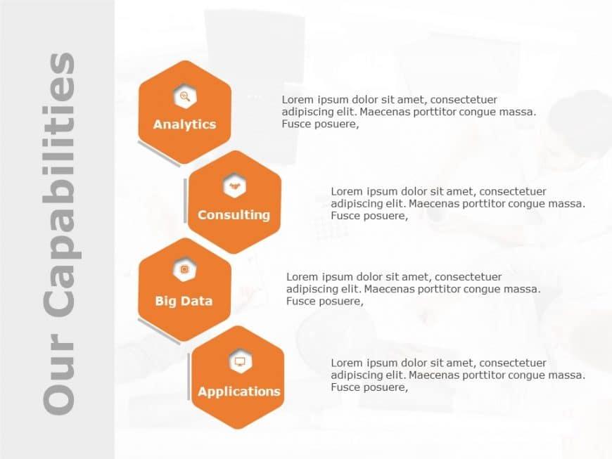 Company Capabilities Hexagon Template