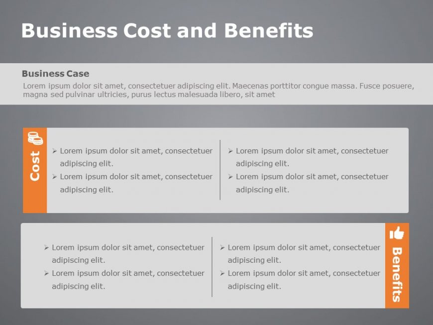 Cost and Benefits Template