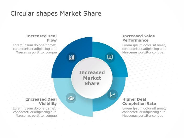 Circular Shapes Template For Market Share