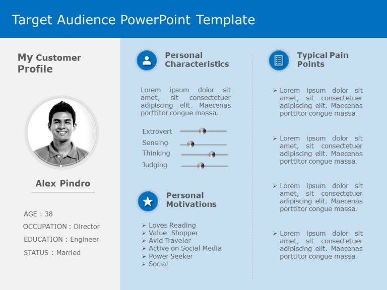 Target Audience Behaviour PowerPoint Template 2