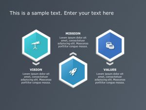 Hexagon Core Competencies PowerPoint Template