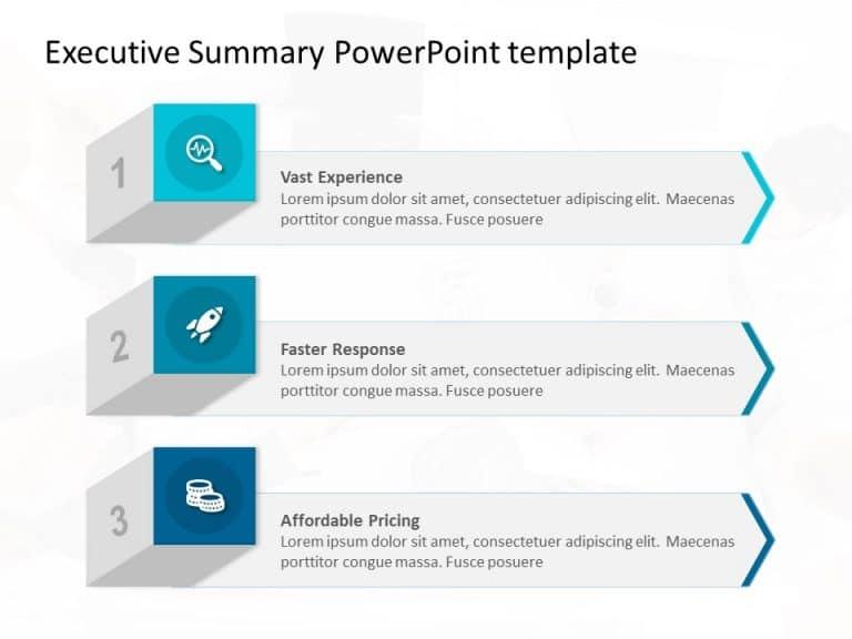 3D Benefits List PowerPoint Template