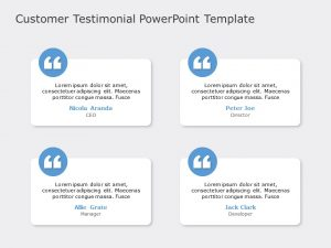Customer Testimonial PowerPoint Template 9