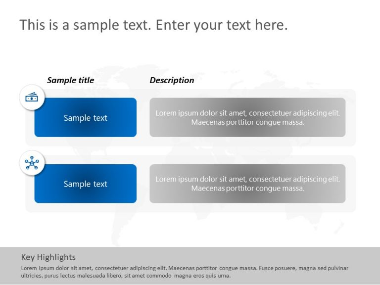 2 Steps Features PowerPoint Template
