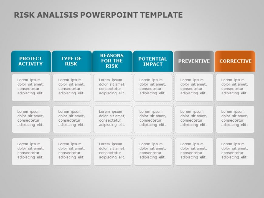 Risk assessment PowerPoint Template 11