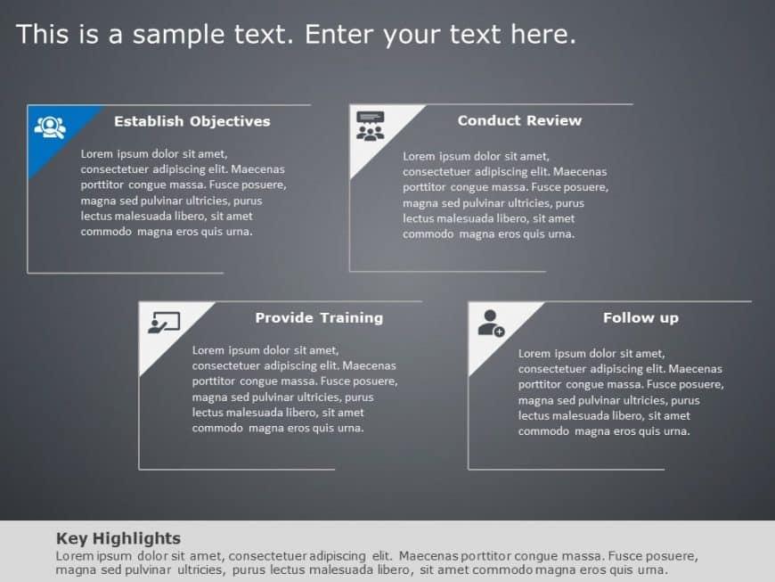 4 Steps Employee Development PowerPoint