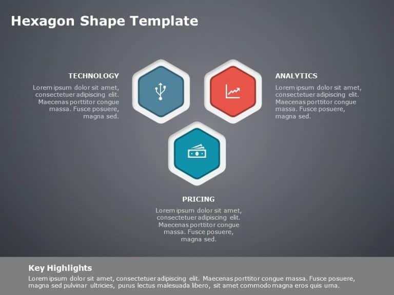 Hexagon Shape Powerpoint Template