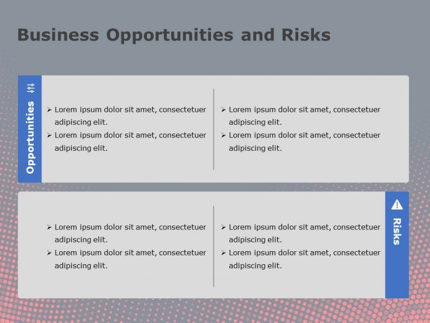 Business Opportunites And Risks Powerpoint Template