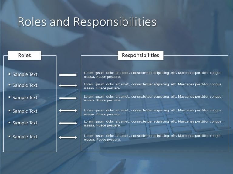 Roles And Responsibilities Powerpoint Template 3