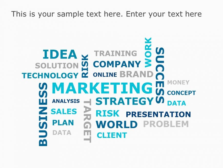 Marketing WordCloud PowerPoint Template