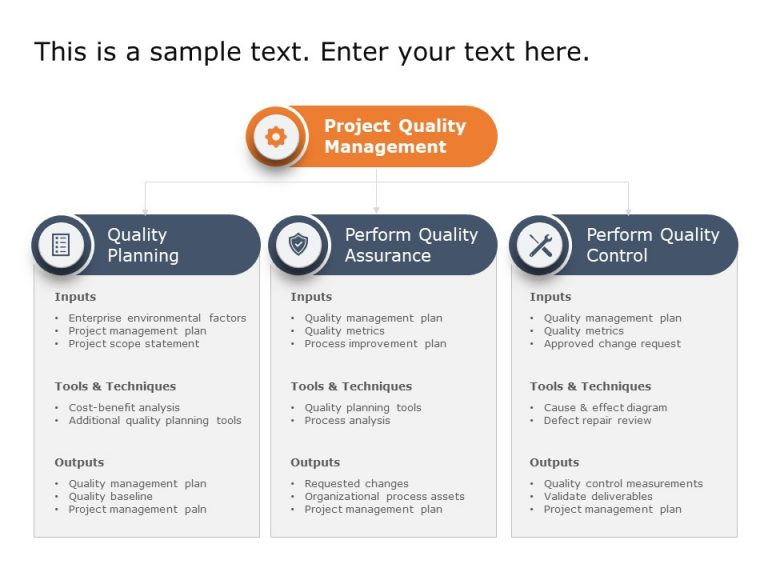 Project Quality Planning Template