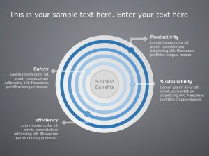 4 Steps Concentric Circles Template