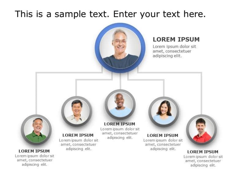 Org Chart PowerPoint Template 17