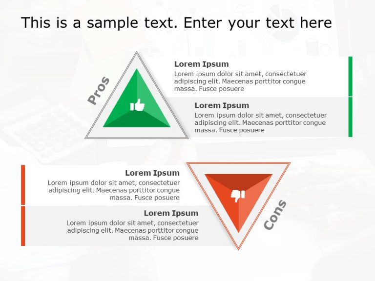Triangle Text Box PowerPoint Template 3