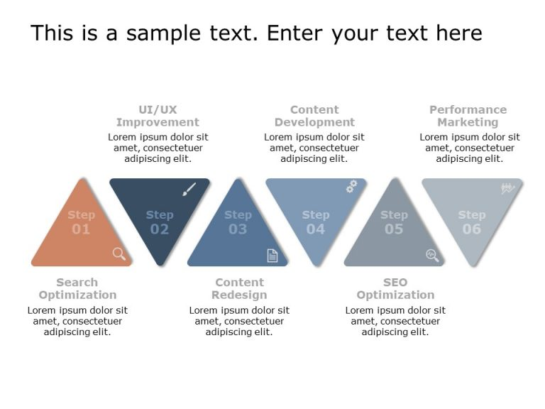 Triangle Text Box PowerPoint Template 7