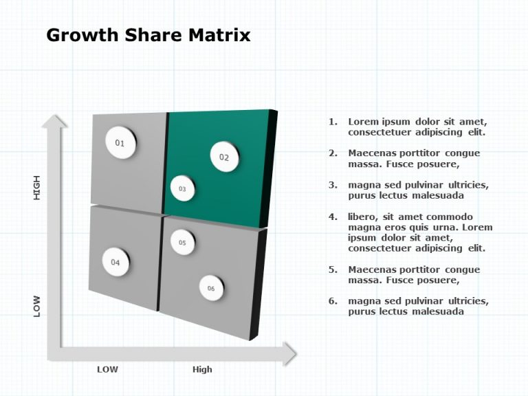 Growth Share Matrix PowerPoint Template 2