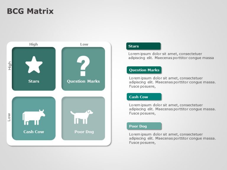 BCG Matrix PowerPoint Template 2