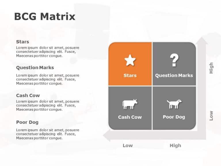 BCG Matrix PowerPoint Template 3