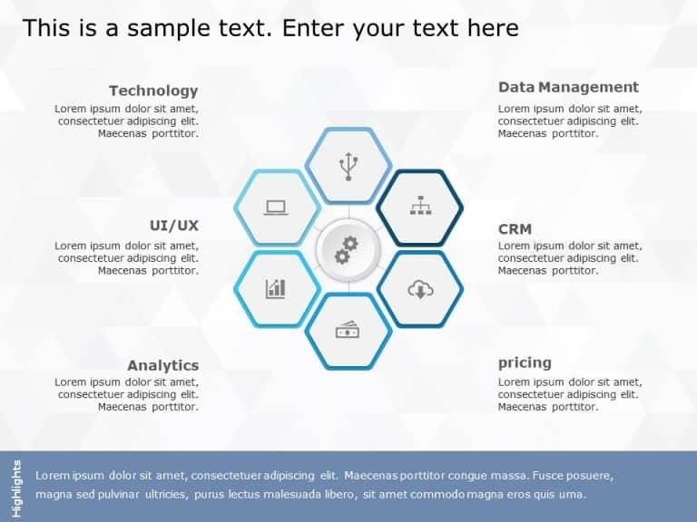 Hexagon PowerPoint Template 14