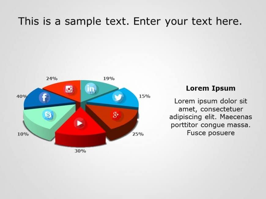 Social Media Market Share PowerPoint Template 2